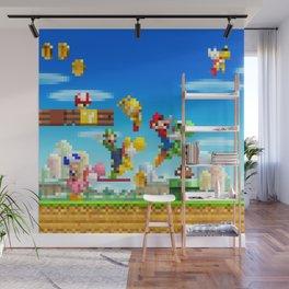 Pixel Mario Wall Mural