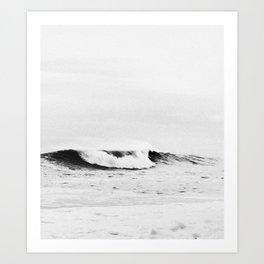 Minimalist Black and White Ocean Wave Photograph Art Print