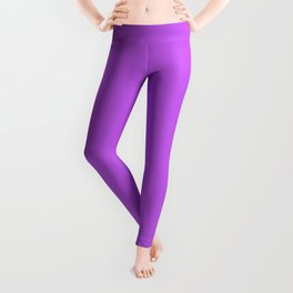 Tyrian Purple Simple Solid Color All Over Print Leggings