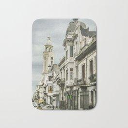 Montevideo Historic Center Cityscape Bath Mat