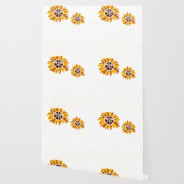 Arvada Greenwich City Vintage Faith Hope Love Peace Sign SunFlower Wallpaper