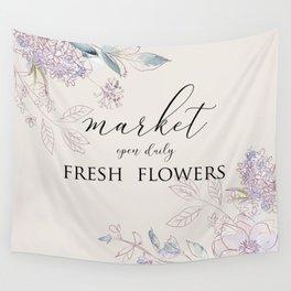 fresh flower market Wall Tapestry