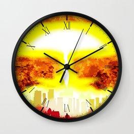 Atomic Bomb Heat Background Wall Clock