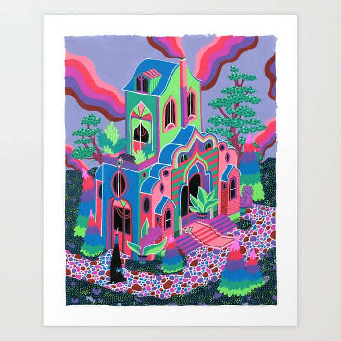 Wizard's House Art Print