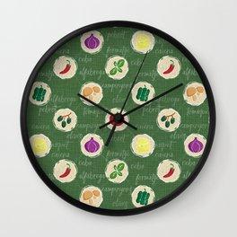 Deconstruction Pizza Wall Clock