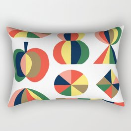 Colorful Objects by Swirvington Rectangular Pillow