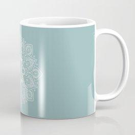 Temptation Mandala on Milky Blue Background Coffee Mug
