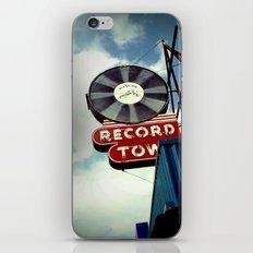 Record Town iPhone & iPod Skin