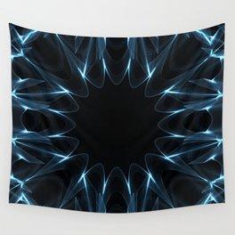 Kaleidoscope in Blue Wall Tapestry