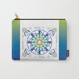 Imagine from the Inside - White/Blue Green Carry-All Pouch