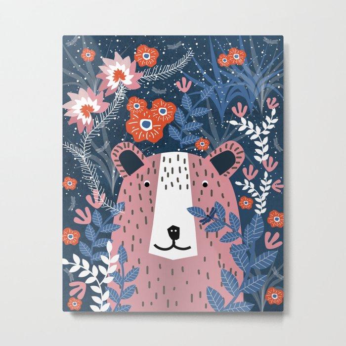 Bear Garden Metal Print