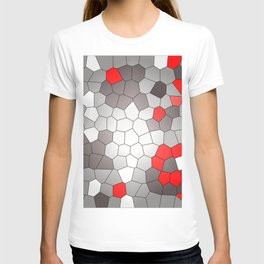 Mosaik grey white red Graphic T-shirt