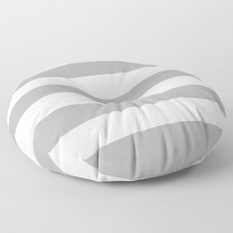 Silver foil - solid color - white stripes pattern Floor Pillow