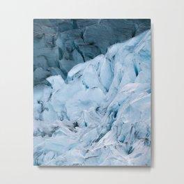 Blue Glacier in Norway - Landscape Photography Metal Print