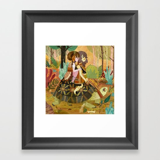 Tortoise Ride Framed Art Print