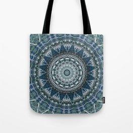 Blue Teal Madala Design Tote Bag
