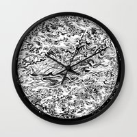 planet Wall Clocks featuring PLANET by B. STIEGLER