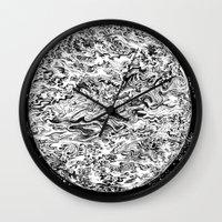 planet Wall Clocks featuring PLANET by B. STIEGLER