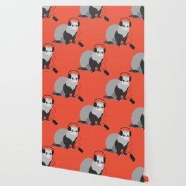 Music Loving Ferret Wallpaper