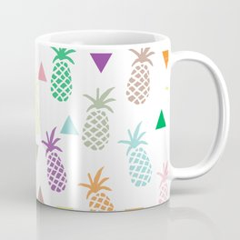 Multi Colored Pineapples and Triangles Coffee Mug