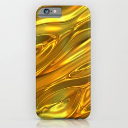 Melted gold pattern iPhone Case