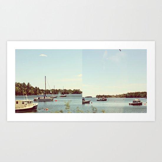 Boats and Buoys  Art Print