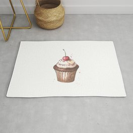 Delicious cupcake with cherry on top Rug