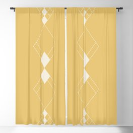 Minimal Geometry - Golden Yellow Blackout Curtain