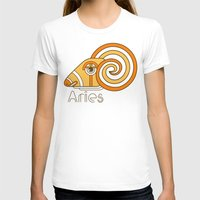 deco T-shirts featuring Deco Aries by Jorge Garza