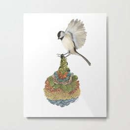 Quilted Bundles: The Bird I Metal Print