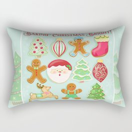 Baking Christmas Bright Rectangular Pillow