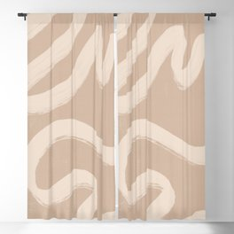 abstract line art 55 Blackout Curtain