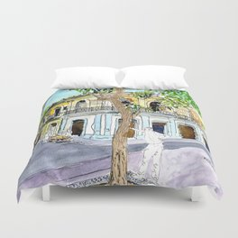 View from Parque Cristo, Habana Vieja, Cuba Duvet Cover