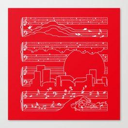 Moonlight Sonata Red Canvas Print