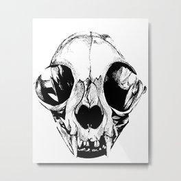 Kitty Skull Metal Print