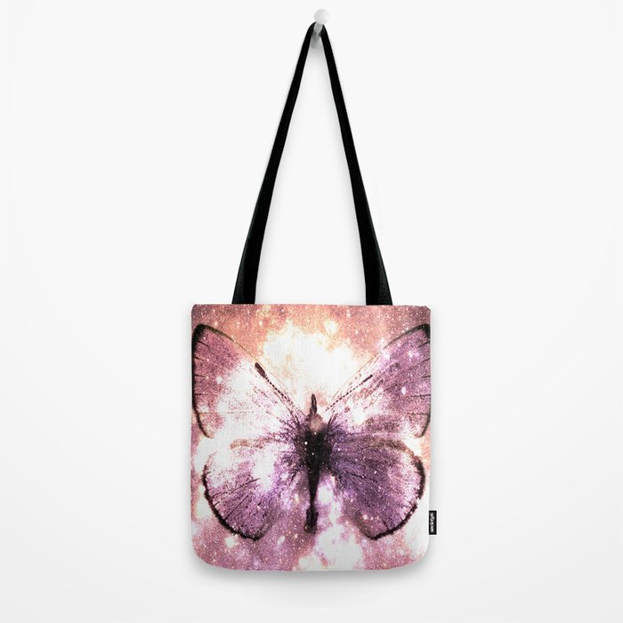 Celestial Butterfly Lavender Pink Peach Tote Bag
