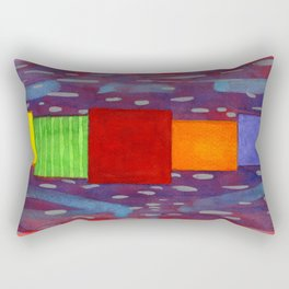 Colorful piled Cubes within free Painting Rectangular Pillow