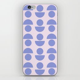 Shapes in Periwinkle iPhone Skin