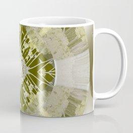 Microchip Mandala in Gold Coffee Mug