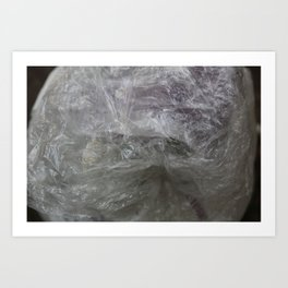 foil cloud wrinkle structured surface Art Print