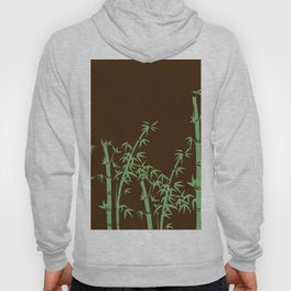 Bamboo design green - brown Hoody