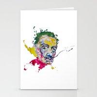 salvador dali Stationery Cards featuring Salvador Dali by Liam Reading
