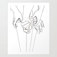 Invisible Hand Theory Art Print