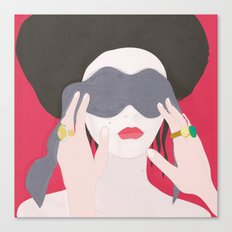 Eyes, blindfold Canvas Print