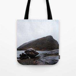 Misty Irish lake Tote Bag