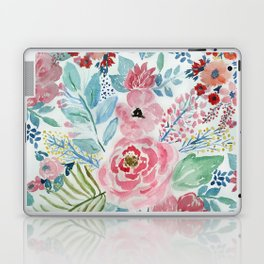 Pretty watercolor hand paint floral artwork. Laptop & iPad Skin
