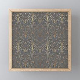 Art Deco in Gold & Grey Framed Mini Art Print