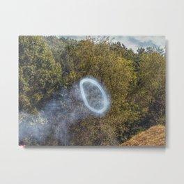 Cannon Smoke Ring Metal Print