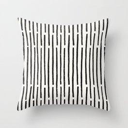 Distressed Hand Drawn Stripe Pattern Throw Pillow