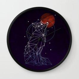 Fox in the Stars Wall Clock